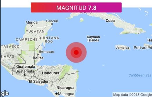 Sismo de magnitud 7,6 golpeó las costas de Honduras