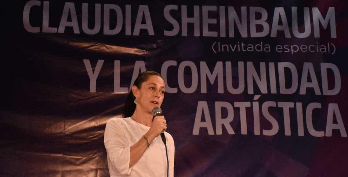 Claudia Sheinbaum comunidad artistica cultura CDMX