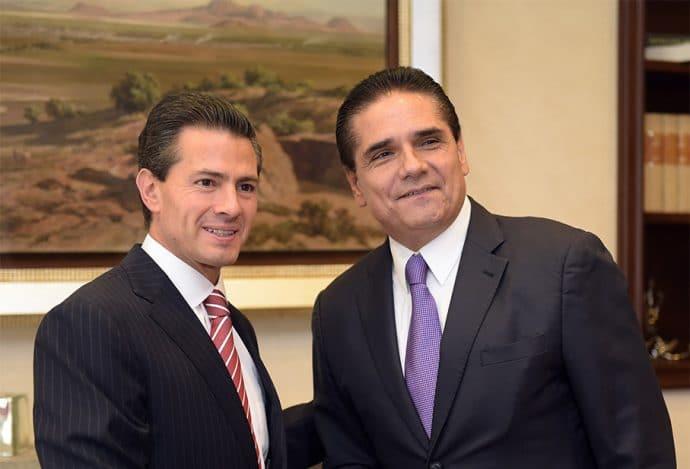 Silvano Aureoles y Enrique Peña