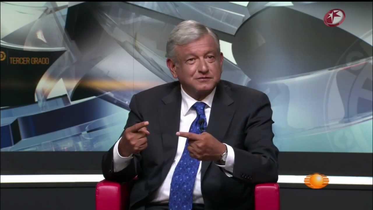 AMLO paticipa en programa Televisa tercer grado