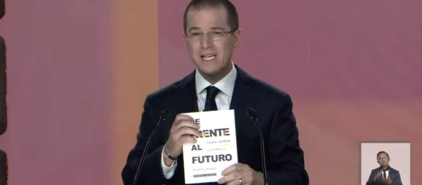 Ricardo Anaya libro inexistente de Frente al Futuro