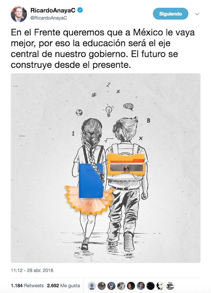 Ricardo Anaya plagia campaña de Brasil