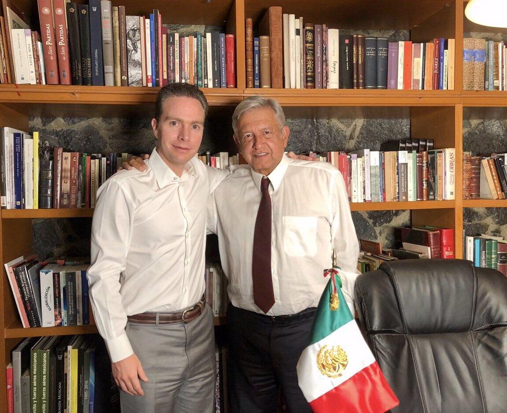 Manuel Velasco y Andrés Manuel López Obrador
