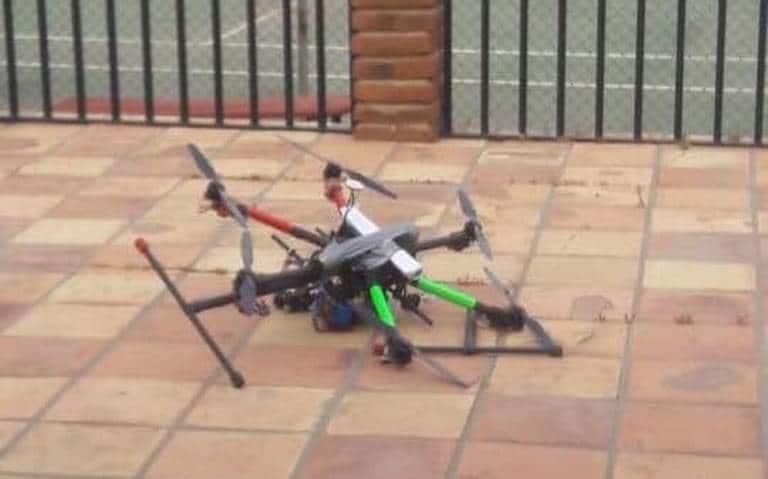 mandan drones con granadas a casa de secretario de seguridad de Baja California