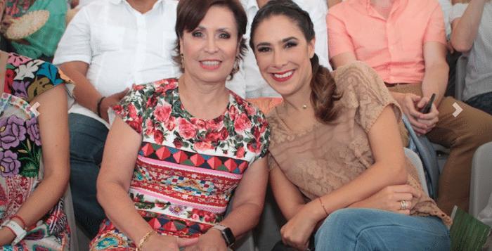 Mariana Moguel Robles y Rosario Robles