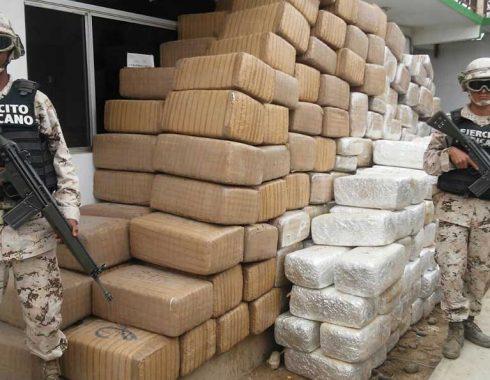 Se ha reducido el decomiso de drogas por parte del Ejército Mexicano