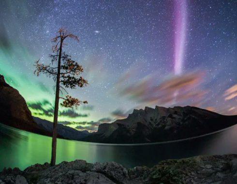 Steve es un fenómeno luminoso de Canadá parecido a las auroras boreales