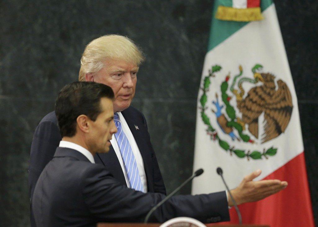 Donald Trump y Peña Nieto durante la visita organizada por Luis Videgaray.
