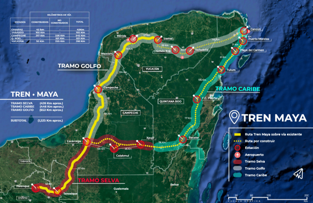 Talleres del Tren Maya en Chetumal.