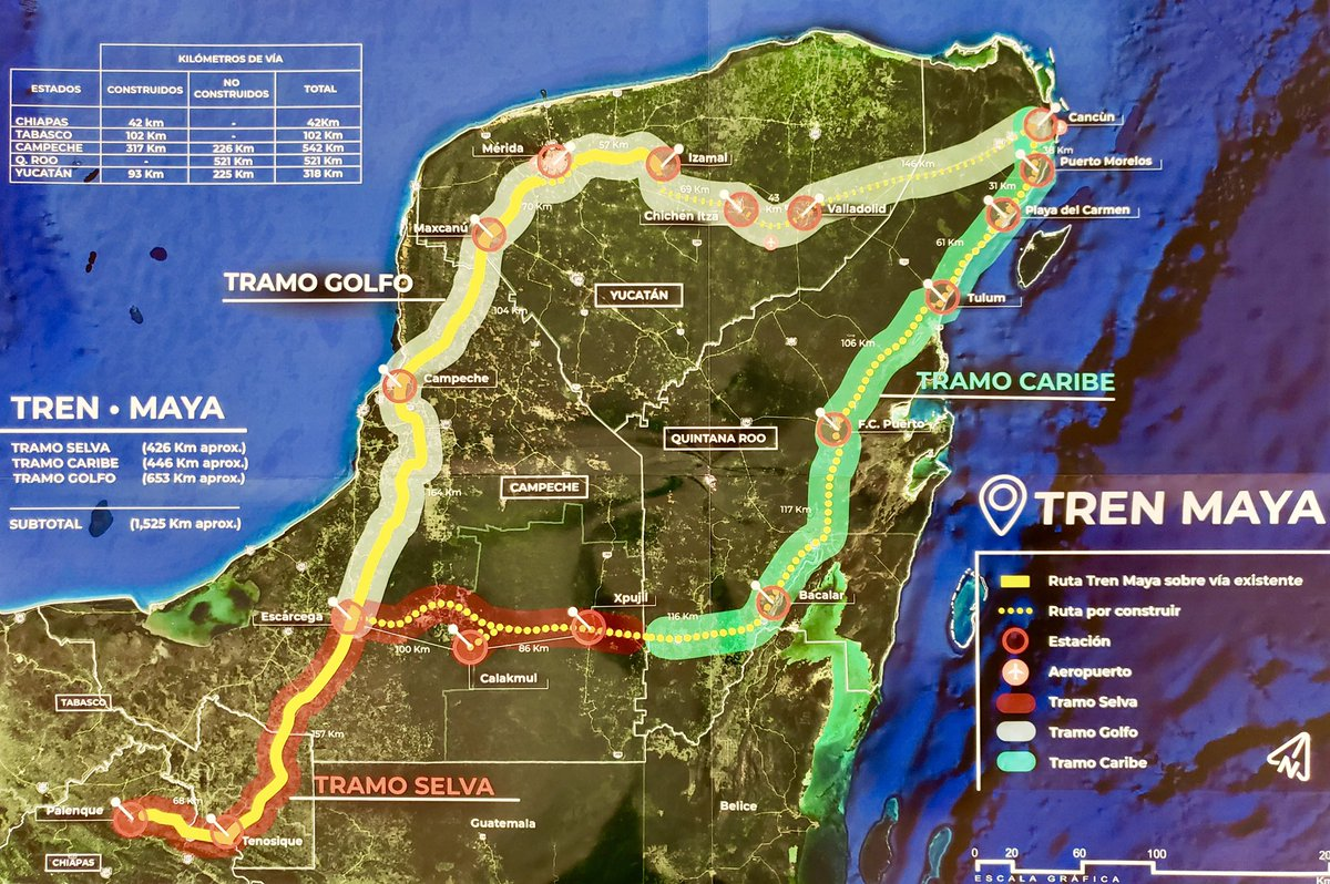 Ruta del Tren Maya.