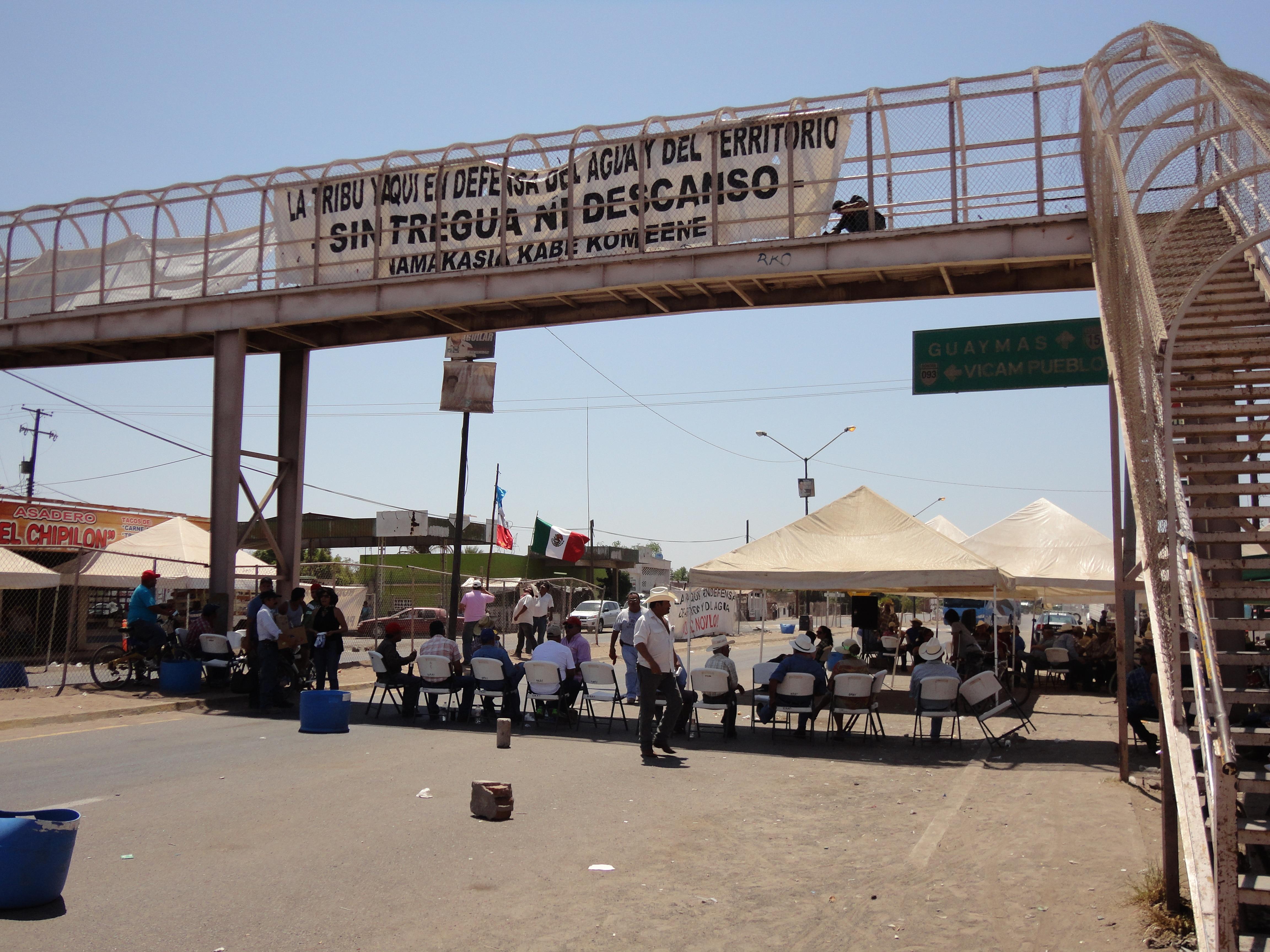 Protestas en contra del acueducto independencia.